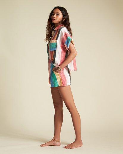 4 Santorini Dreams - gestreiftes Hemd für Damen Mehrfarbig S3TP22BIP0 Billabong