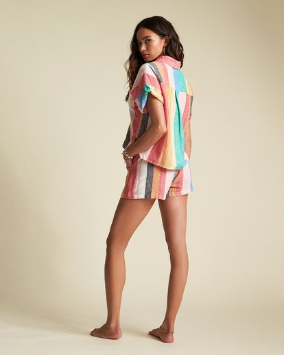6 Santorini Dreams - gestreiftes Hemd für Damen Mehrfarbig S3TP22BIP0 Billabong