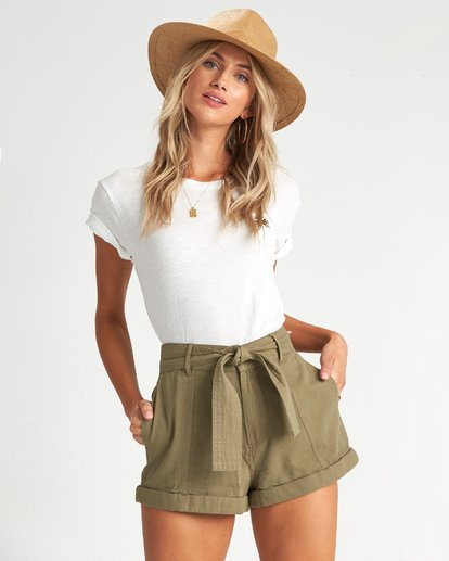 1 Day After Day - High Waisted Shorts für Damen Grün S3WK16BIP0 Billabong