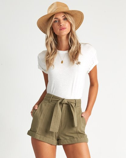 2 Day After Day - High Waisted Shorts für Damen Grün S3WK16BIP0 Billabong