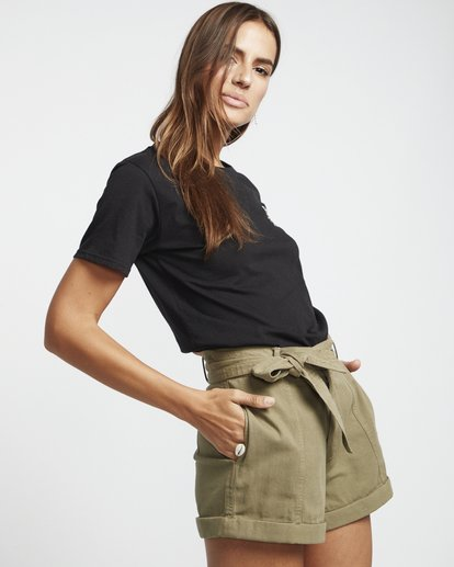 5 Day After Day - High Waisted Shorts für Damen Grün S3WK16BIP0 Billabong