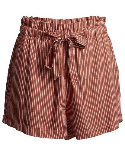 4 Sliding Rock - High Waisted Shorts für Damen Braun S3WK18BIP0 Billabong