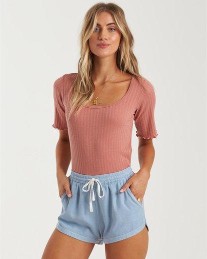 2 Road Trippin - Pantalones cortos de tela para Mujer Azul S3WK26BIP0 Billabong