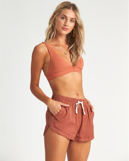 3 Road Trippin - Woven Shorts for Women Brown S3WK26BIP0 Billabong