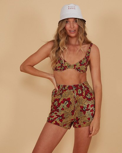 1 Sunbaked - Denim Shorts for Women Red S3WK41BIMU Billabong