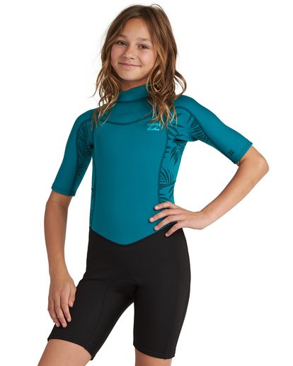 0 2/2 Synergy FL - leichter Neoprenanzug mit Back-Zip und kurzen Ärmeln für Mädchen Mehrfarbig S42B50BIP0 Billabong