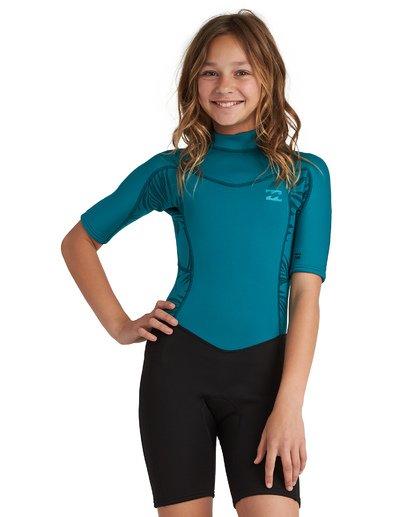 1 2/2 Synergy FL - leichter Neoprenanzug mit Back-Zip und kurzen Ärmeln für Mädchen Mehrfarbig S42B50BIP0 Billabong