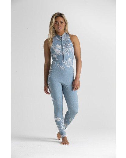 1 2mm Salty - Traje de surf largo sin mangas para Mujer Azul S42G54BIP0 Billabong