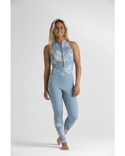 2 2mm Salty - Traje de surf largo sin mangas para Mujer Azul S42G54BIP0 Billabong