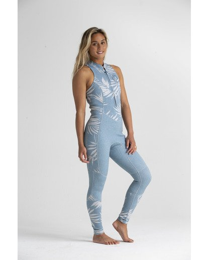 4 2mm Salty - Traje de surf largo sin mangas para Mujer Azul S42G54BIP0 Billabong