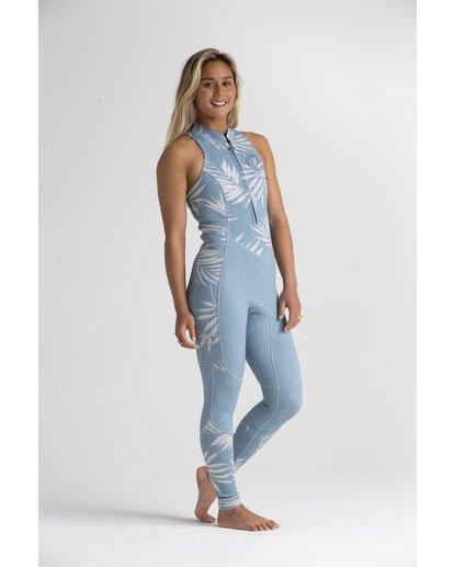 5 2mm Salty - Traje de surf largo sin mangas para Mujer Azul S42G54BIP0 Billabong