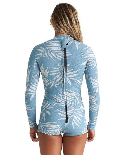 1 2mm Spring Fever - Traje de surf corto de manga larga para Mujer Azul S42G59BIP0 Billabong