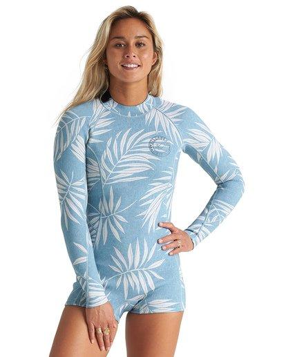 0 2mm Spring Fever - Traje de surf corto de manga larga para Mujer Azul S42G59BIP0 Billabong