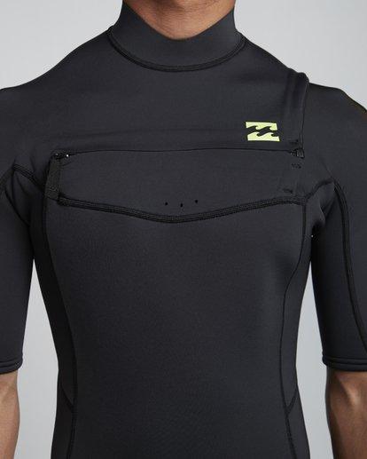 5 2/2mm Absolute FL - leichter Neoprenanzug mit Chest-Zip und kurzen Ärmeln für Herren Grün S42M70BIP0 Billabong