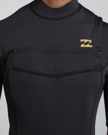 6 2/2mm Absolute FL - leichter Neoprenanzug mit Chest-Zip und kurzen Ärmeln für Herren Schwarz S42M70BIP0 Billabong
