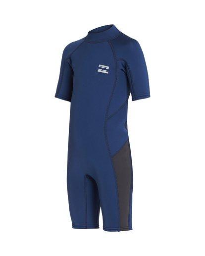 2 2/2mm Absolute FL - Traje de surf de manga corta con cremallera en la espalda para Bebés Azul S42T60BIP0 Billabong