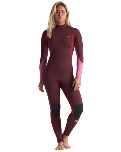1 3/2mm Synergy FL - Back Zip Wetsuit for Women Red S43G54BIP0 Billabong