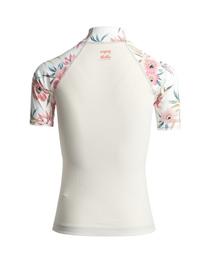 1 Flower - Licra Rash Vest de manga corta para Mujer Blanco S4GY06BIP0 Billabong