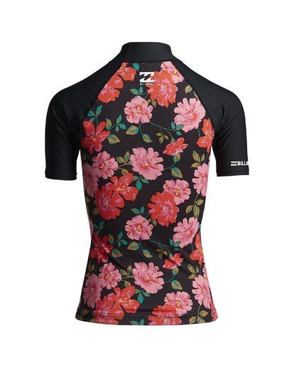 5 Flower - Kurzärmliger Rashguard für Frauen Schwarz S4GY06BIP0 Billabong