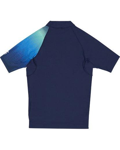 3 Contrast Printed - kurzärmeliges Lycra mit UPF 50 für Jungen Blau S4KY08BIP0 Billabong