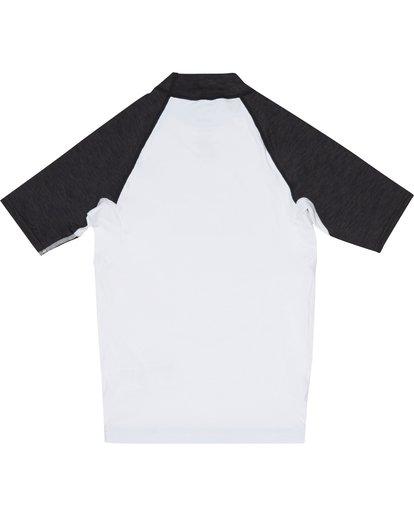 3 Team Wave - Short Sleeve UPF 50 Rash Vest for Boys White S4KY11BIP0 Billabong