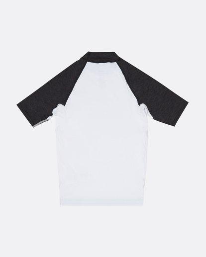 1 Team Wave - Short Sleeve UPF 50 Rash Vest for Boys White S4KY11BIP0 Billabong