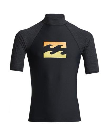 0 Team Wave - Surf Tee UPF 50 manches courtes pour Homme Noir S4MY07BIP0 Billabong