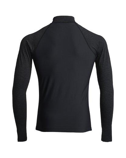 1 Team Wave - Rash Vest UPF 50 a Maniche Lunghe da Uomo Black S4MY15BIP0 Billabong