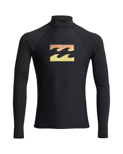 0 Team Wave - Rash Vest UPF 50 a Maniche Lunghe da Uomo Black S4MY15BIP0 Billabong
