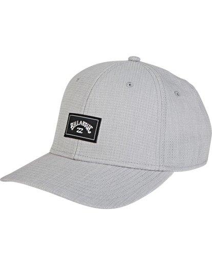 3 Surftrek Stretch - Fitted Hat for Men Grey S5CF01BIP0 Billabong