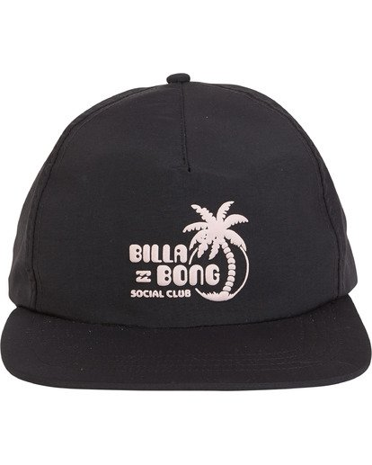4 Wallride - Strap Back Hat for Men Black S5CM06BIP0 Billabong
