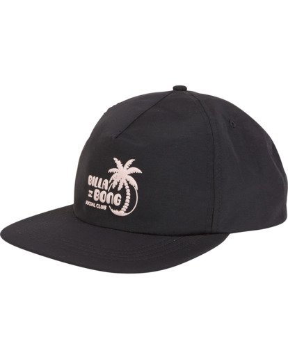 3 Wallride - Strap Back Hat for Men Black S5CM06BIP0 Billabong