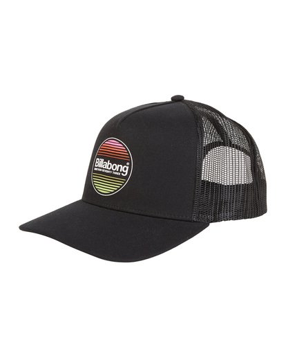 6 Flatwall - Trucker Hat for Men Black S5CT04BIP0 Billabong