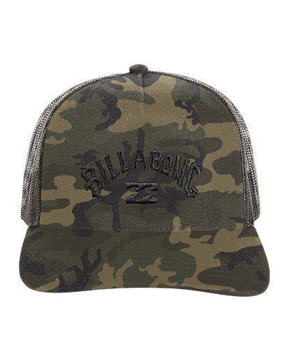 8 Flatwall - Trucker Hat for Men Camo S5CT04BIP0 Billabong