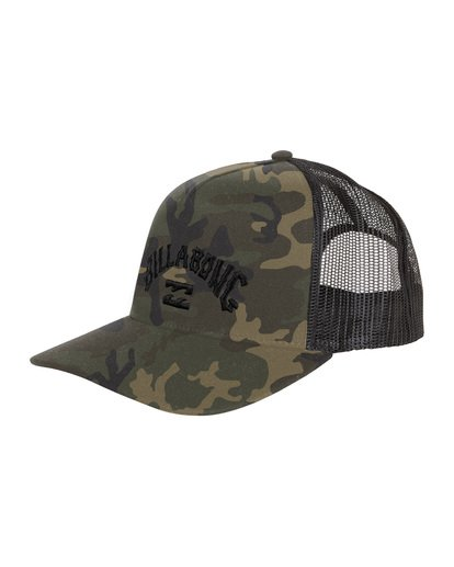 6 Flatwall - Trucker Hat for Men Camo S5CT04BIP0 Billabong