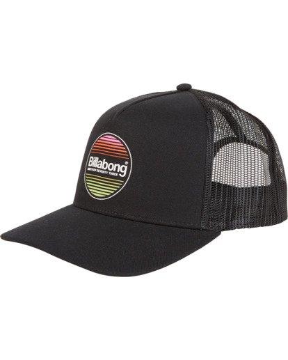 3 Flatwall - Trucker Hat for Men Black S5CT04BIP0 Billabong