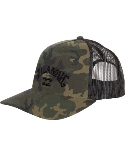 3 Flatwall - Trucker Hat for Men Camo S5CT04BIP0 Billabong