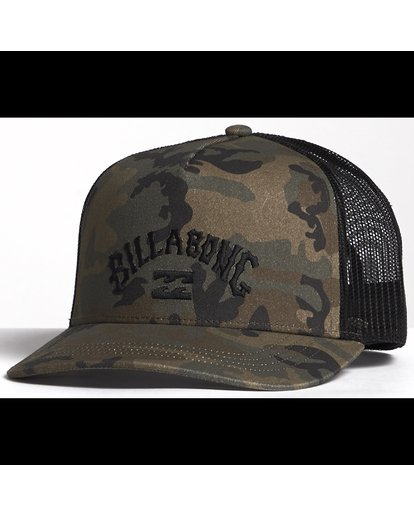 5 Flatwall - Trucker Hat for Men Camo S5CT04BIP0 Billabong