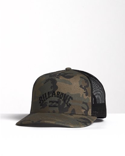 2 Flatwall - Trucker Hat for Men Camo S5CT04BIP0 Billabong