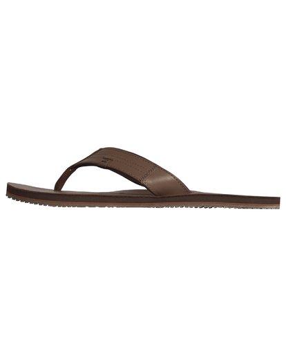 2 Seaway Leather - Flip-Flops for Men Brown S5FF19BIP0 Billabong