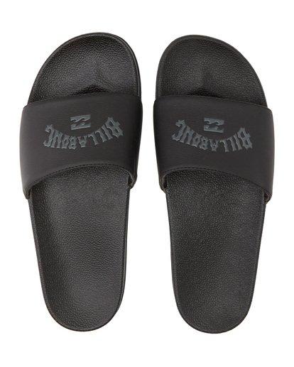 4 Poolslide Corp - Sandalen aus Kunstleder für Herren Schwarz S5FF22BIP0 Billabong