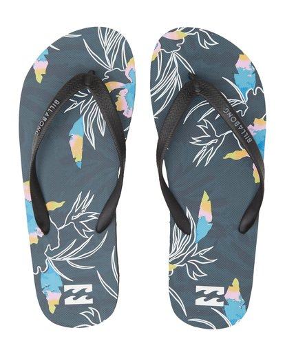 4 Tides Sundays - Gummi-Sandalen für Herren Blau S5FF25BIP0 Billabong