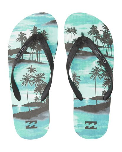 4 Tides Sundays - Rubber Sandals for Men Blue S5FF25BIP0 Billabong