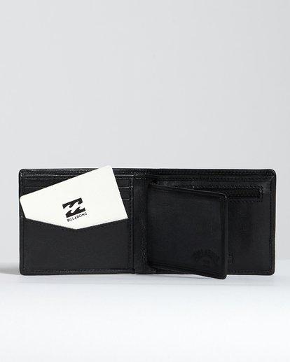 3 Arch Id Leather - Brieftasche aus Leder für Herren Schwarz S5LW01BIP0 Billabong