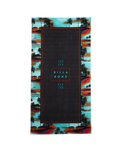 1 Tucked - Printed Cotton Velour Towel for Men Blue S5TO02BIP0 Billabong