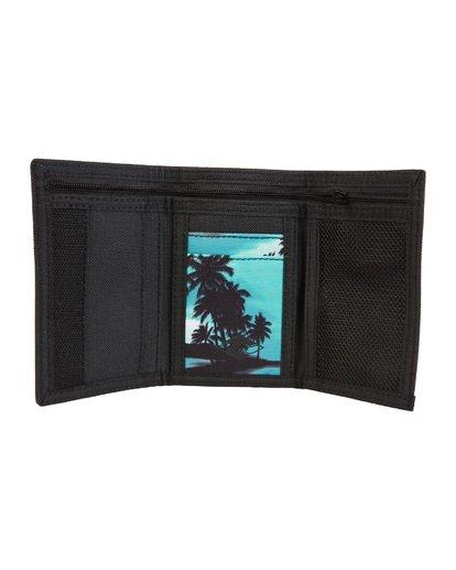 3 Atom - bedruckte, dreiteilige Brieftasche für Herren Blau S5WL02BIP0 Billabong
