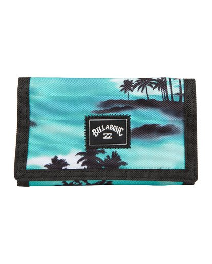 2 Atom - bedruckte, dreiteilige Brieftasche für Herren Blau S5WL02BIP0 Billabong
