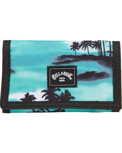 0 Atom - bedruckte, dreiteilige Brieftasche für Herren Blau S5WL02BIP0 Billabong
