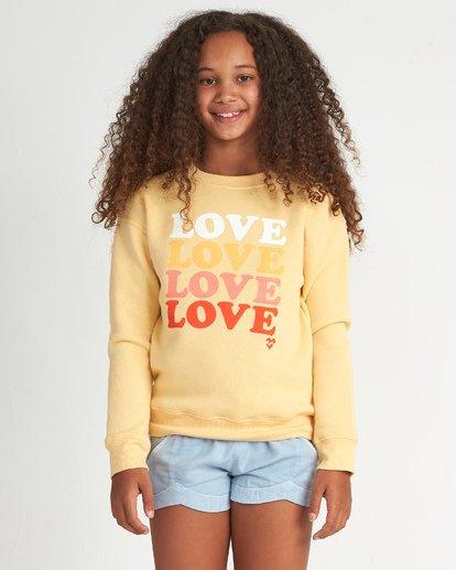 1 So Much Love Cr - Sudadera con estampado gráfico para Chicas adolescentes Amarillo S8CR01BIP0 Billabong
