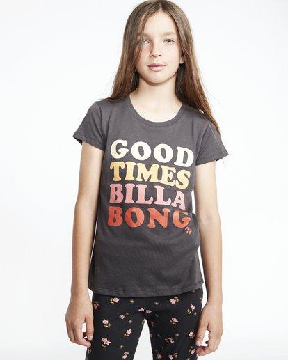 1 So Much Love - Camiseta con estampado gráfico para Chicas adolescentes Negro S8SS01BIP0 Billabong